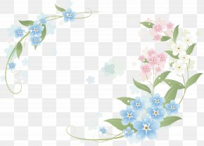 Hand-painted Flowers Border - Flower Clip Art PNG