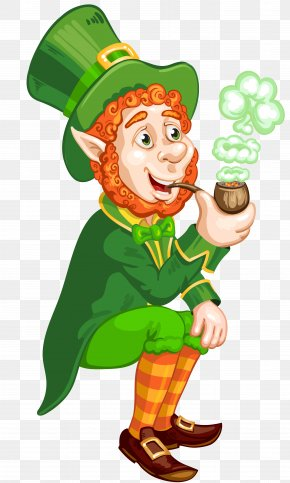 St Patrick Day Transparent Leprechaun With Pipe PNG Picture - Saint Patrick's Day Wish Leprechaun Clip Art PNG