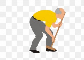 Playing Hockey Grandfather - Croquet Sport Old Age Clip Art PNG