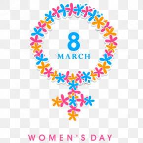 March 8 Women's Day Decoration Pattern - International Womens Day Poster March 8 PNG