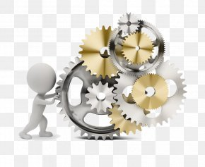 Pushing The Villain Time Gear - Software Manufacturing Execution System Enterprise Resource Planning PNG