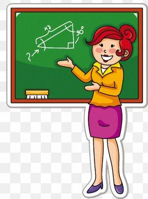 BLACKBOARD - Teacher Student School Cartoon PNG