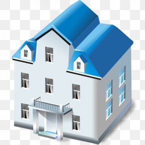 House Blue Cliparts - House ICO Building Icon PNG