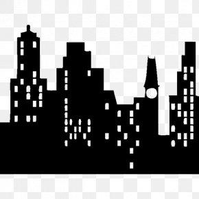 Silhouette - New York City Silhouette Sticker Skyline Clip Art PNG