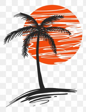 Illustration Of Palm Trees - Arecaceae Euclidean Vector Clip Art PNG
