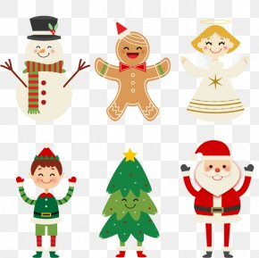 Happy Christmas Characters - Santa Claus Christmas Character Icon PNG