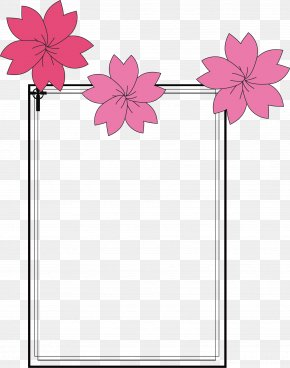Cherry Vector Japanese Border - Japanese Border Designs Clip Art PNG