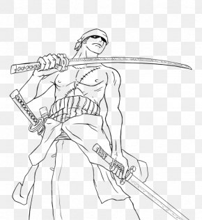 Child - Roronoa Zoro Coloring Book Child Drawing Line Art PNG