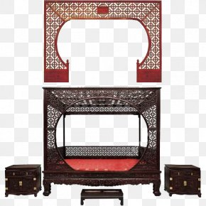 The Ancient Style Of The Moon Gate - Furniture U4e0au6d77u5fc6u82d1u4e2du5f0fu5bb6u5177 Bed Painting Work Of Art PNG