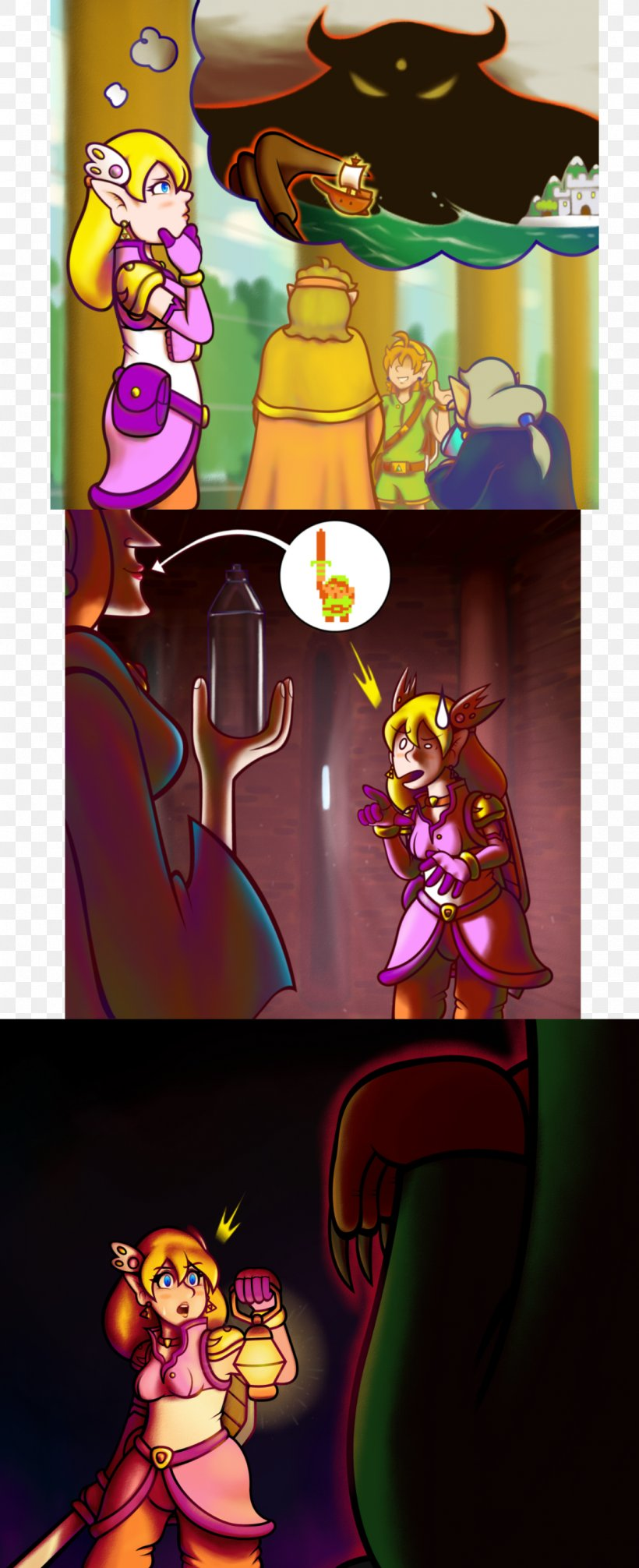 Zelda The Wand Of Gamelon Link The Faces Of Evil Princess