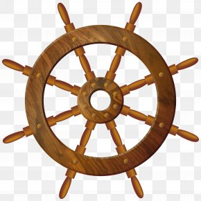Wooden Wheel Transparent PNG Clip Art Image - Ship's Wheel Steering Wheel Clip Art PNG