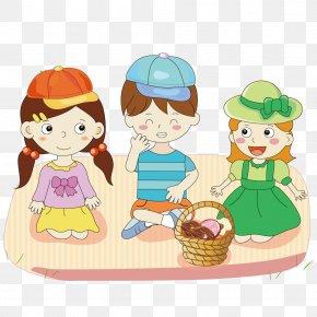 Picnic Children - Child Illustration PNG