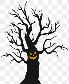 Halloween Scary Tree Clip Art Image - Halloween Clip Art PNG