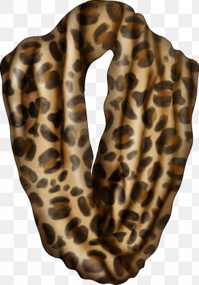Pretty Leopard Scarf - Leopard Scarf Foulard PNG