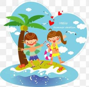 Cartoon Children - Vacation Summer Royalty-free Clip Art PNG