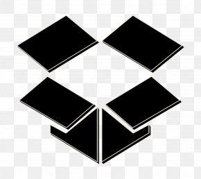 Symbol Blackandwhite - Dropbox Icon Storage Icon PNG