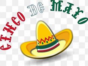 Cinco - Sombrero Mexican Cuisine Clip Art PNG