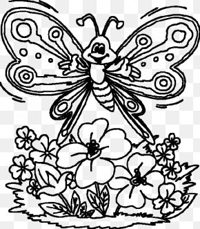 Butterfly - Butterfly Coloring Book Child Drawing PNG