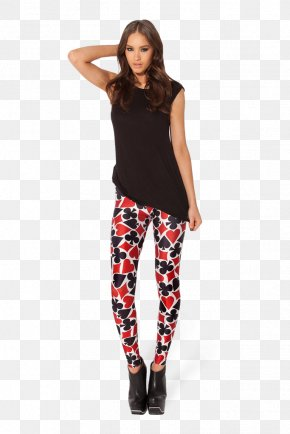 Deck Of Cards Image - Playing Card Leggings Suit Trousers Clothing PNG