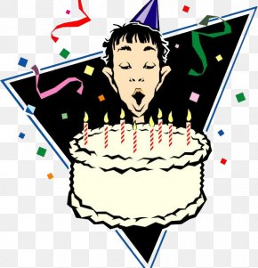 Blowing Birthday Candle Cartoon Man - Birthday Cake Happy Birthday To You Party Clip Art PNG