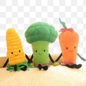 Broccoli Muppets - Plush Stuffed Toy Vegetable Doll PNG
