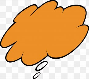 Orange Thinking Bubbles - Thought Bubble Dialogue Clip Art PNG