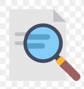 Magnifying Glass And Document - Magnifying Glass Document Presentation Computer File PNG