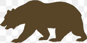 Bear Shadow Cliparts - California Grizzly Bear American Black Bear California Republic PNG