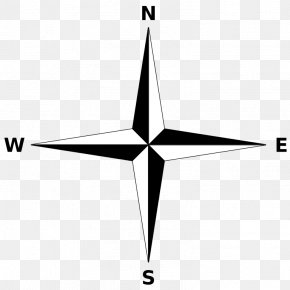 Simple Compass Rose - Compass Rose North Cardinal Direction Map PNG
