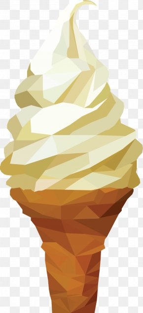 Hand-painted Ice Cream - Ice Cream Cone Graphic Design PNG