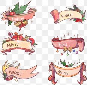 6 Pink Ribbon Festival - Christmas Pink Ribbon Computer File PNG