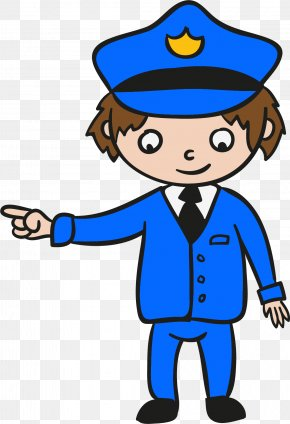 Policeman Pointing The Way - Police Officer Clip Art PNG