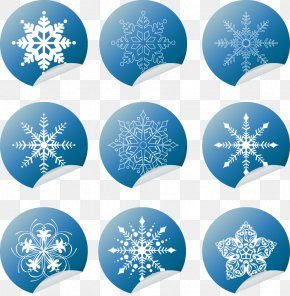 Vector Snowflakes Blue Stickers - Snowflake Graphic Arts Clip Art PNG