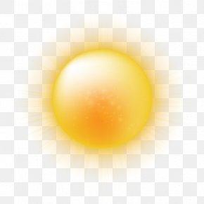Cartoon Summer Sun Vector Material - Yellow Sphere Egg Computer Wallpaper PNG