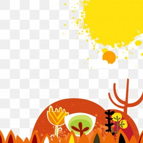 Autumn Poster Decoration - Poster Autumn Illustration PNG