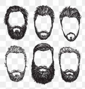 Black And White Vector Beard - Beard Stock Illustration Illustration PNG