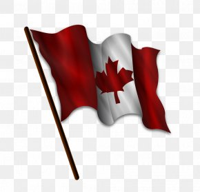 American And Canadian Flag - Flag Of Canada Clip Art Vector Graphics PNG
