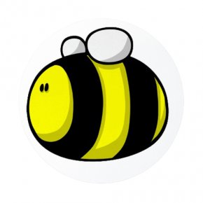 Cute Bumble Bee - Bumblebee Cartoon Clip Art PNG
