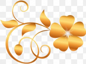 Flowers - Golden Flowers Desktop Wallpaper Clip Art PNG
