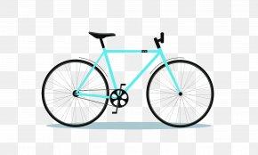 A Blue Bicycle - Single-speed Bicycle Mountain Bike Bicycle Frame Crankset PNG