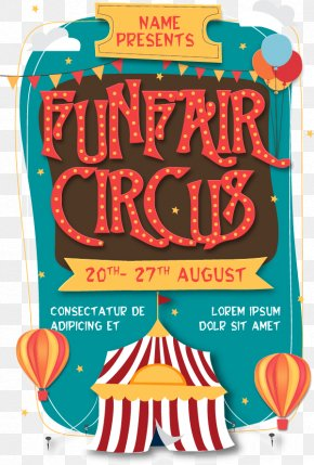 Vector Circus Poster - Circus Flyer Poster Traveling Carnival PNG