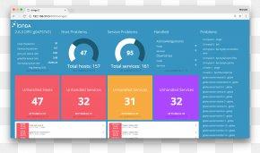 Icinga Network Monitoring Nagios Computer Software Front And Back Ends PNG