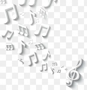 3D Stereoscopic Exquisite Musical Notation - Musical Note Icon PNG