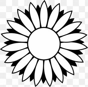 Black Sunflower Cliparts - Black And White Line Art Free Content Clip Art PNG