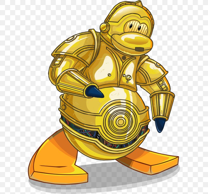 C-3PO Club Penguin Luke Skywalker R2-D2, PNG, 600x767px, Penguin, Club Penguin, Club Penguin Entertainment Inc, Fictional Character, Force Download Free