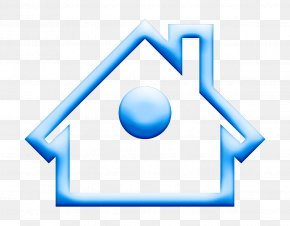 Symbol Electric Blue - Building Icon Home Icon House Icon PNG
