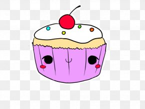 Cupcake Outline - Cupcake Muffin Chocolate Cake Smiley Clip Art PNG