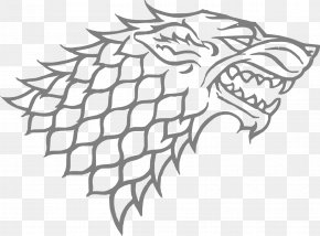 Game Of Thrones - Gray Wolf Sansa Stark House Stark Winter Is Coming Decal PNG