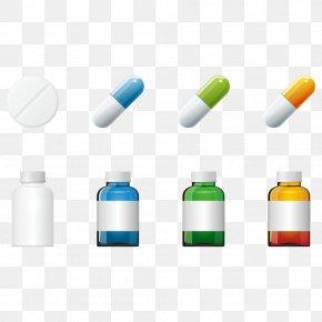 Bottle And Medicine Tablets - Pharmaceutical Drug Aspirin Tablet Medicine PNG