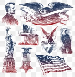 4th Of July Clipart Collection - United States Bald Eagle Symbol Clip Art PNG